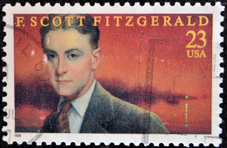 A US stamp circa 1996 portraying F. Scott Fitzgerald