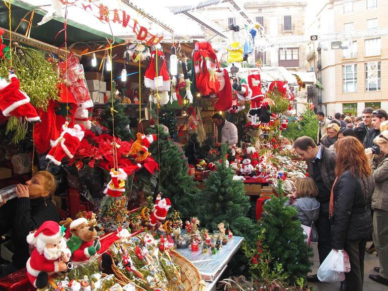 Santa Llucia Festival at Christmas in Barcelona