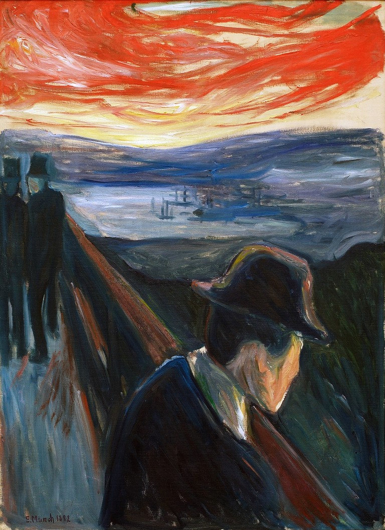 Edvard Munch's 'Sick Mood at Sunset, Despair', 1892 |  © 2017 Artists Rights Society (ARS), New York / Thielska Galleriet, Sweden / Tord Lund
