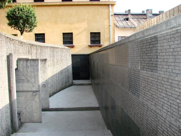The Memorial Wall at the Sighet Museum
