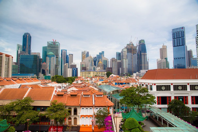 Chinatown's cityscape and shophouses