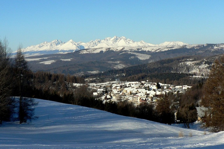 The High Tatra mountain range remains covered in glistening white snow for the entire winter season; a perfect destination for snow sports!