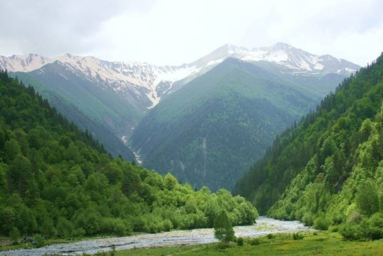 Landscape in South Ossetia