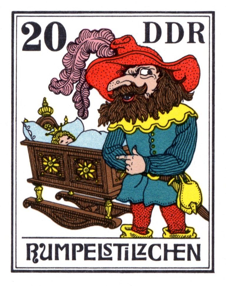 German stamp featuring Rumpelstilzchen from 1976