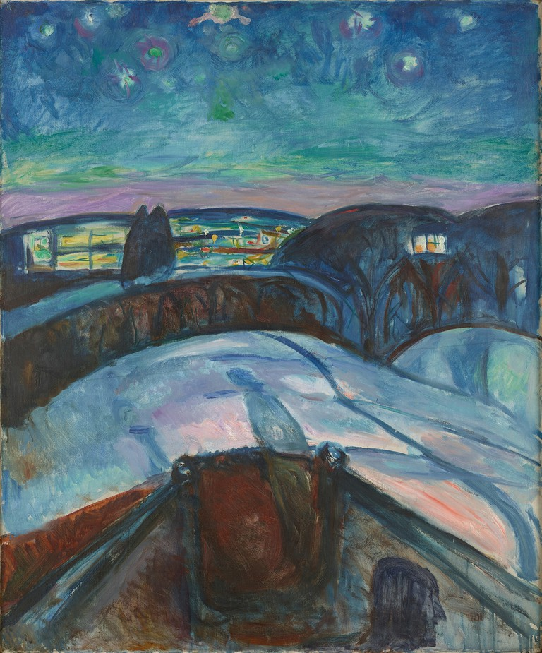 Edvard Munch's 'Starry Night', 1922–1924 |  © 2017 Artists Rights Society (ARS), New York / Munch Museum