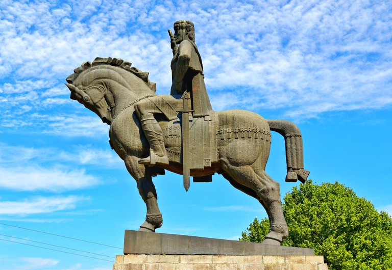 Statue of King Vakhtang Gorgasali, Tbilisi, Georgia
