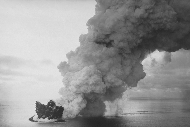 The volcanic eruption that formed the island of Surtsey in 1963