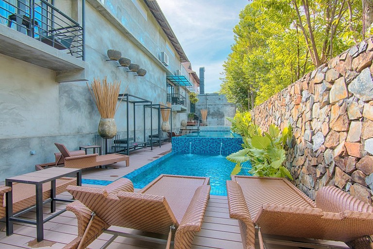 Swimming pool in Lot 33 Boutique Hotel