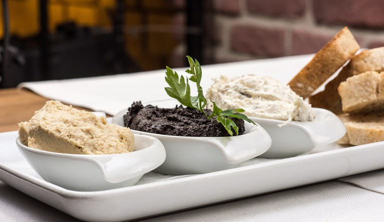 Tapenade is made from olives