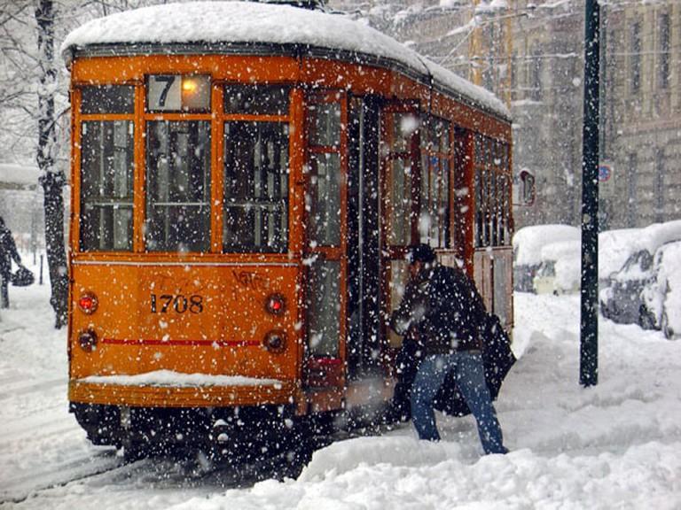 A classic Milanese tram
