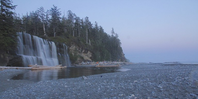 Tsusiat Falls at Pacific Rim National Park