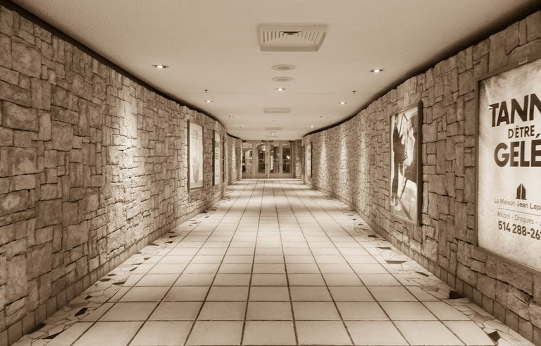 Tunnels of Montreal's Underground City https://www.flickr.com/photos/zoxcleb/14573160854/in/photolist-ocMg13-6ew6HM-8V12vq-3ZnPo-ocWfRP-8UWXeB-oeHetk-nVsJKi-9NA1ez-FQpY7i-7G5RgG-av61Hd-Ab2iz-JUVv2q-YxHbmj-52nncZ-Zs9isH-5az2SY-diKSYu-3ZnPu-5qt5wv-9NmrQx-fkwFGL-7G5R6o-7k9BSu-fkhz82-7k9BBy-GTyY5P-7k9Ckh-7k9Cxy-7k9D1u-HLeC91-7k9C6y-nHxfv7-5RU99Z-HGUMQ6-7k5Jy6-M2RfKS-HoNLcW-GTpgEj-SSQ6jT-HPg4ea-VxuAhy-GTpmJ7-VcYvEj-UGDm4G-RMC8cA-RMC7SC-fkwGRW-7k9D2L