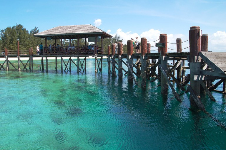 Turquoise waters of Manukan Island in Tunku Abdul Rahman Marine Park