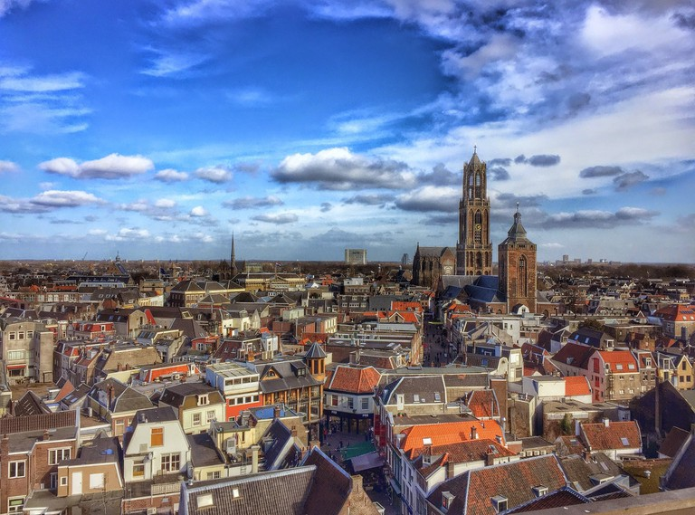 Blue skies over Utrecht