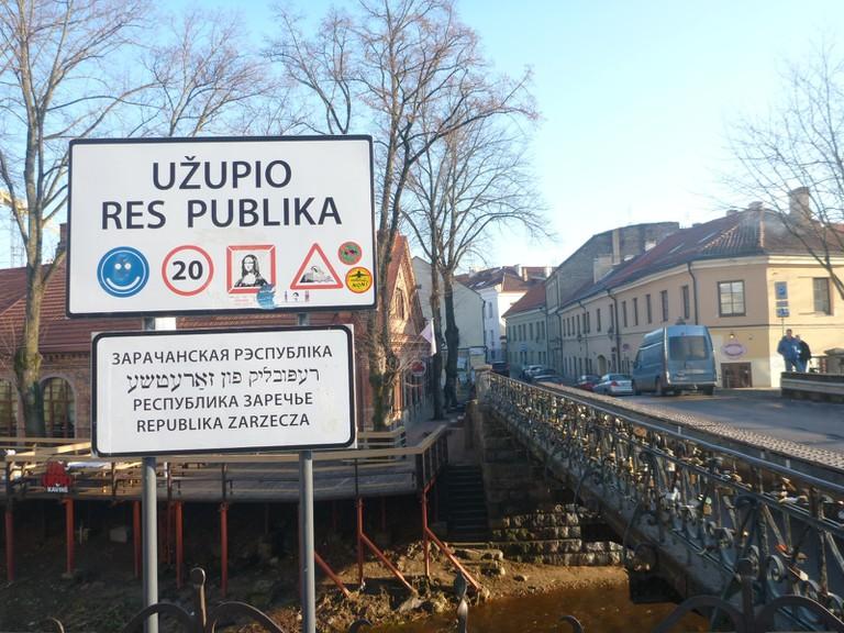 Entrance bridge to the Republic of Užupis