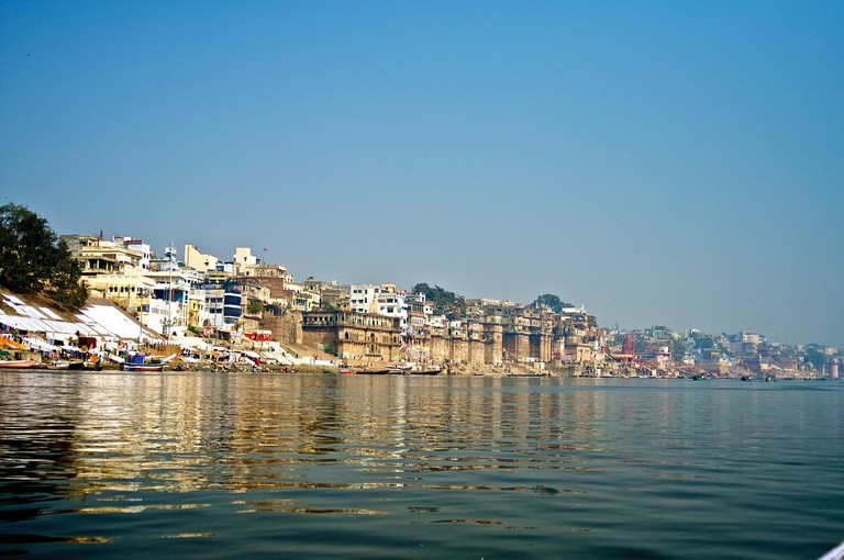 The holy city of Varanasi/Kasi located along the banks of River Ganges in India