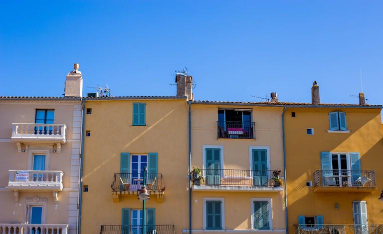 The pastels of La Ponche in St Tropez