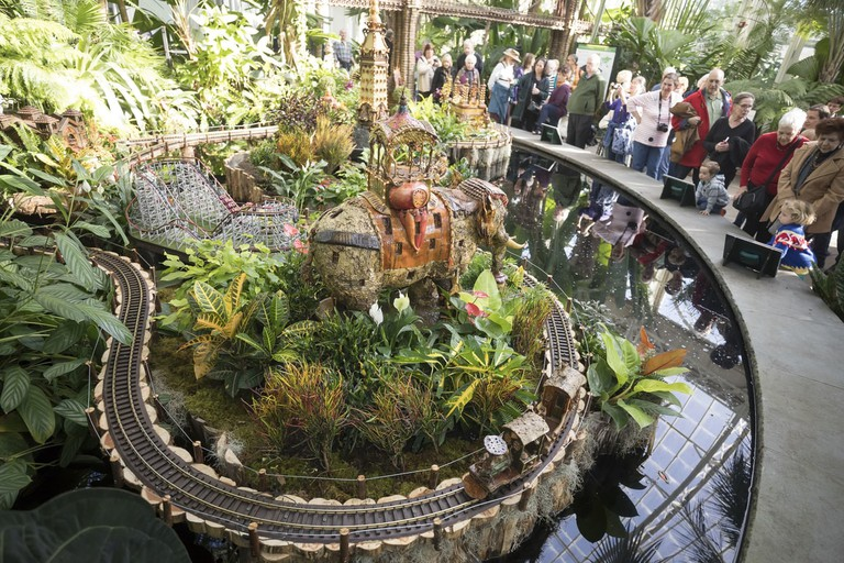 NYBG train show on November 17, 2016 in New York City. (Photo by Ben Hider)