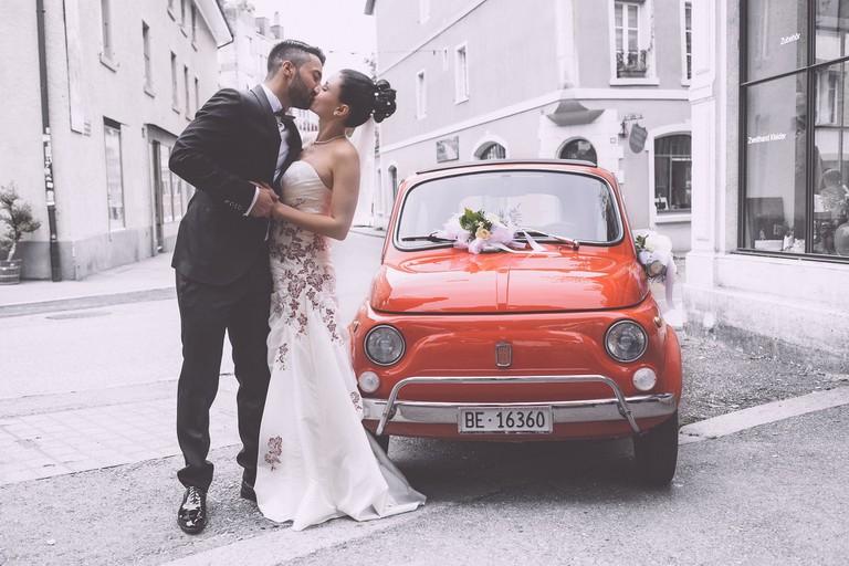 An Italian bride and groom