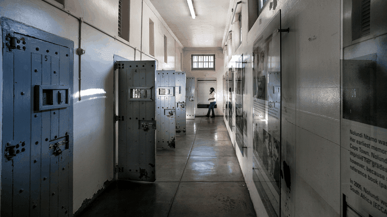 The women's jail cells