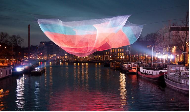 An installation at Amsterdam Light Festival 2013