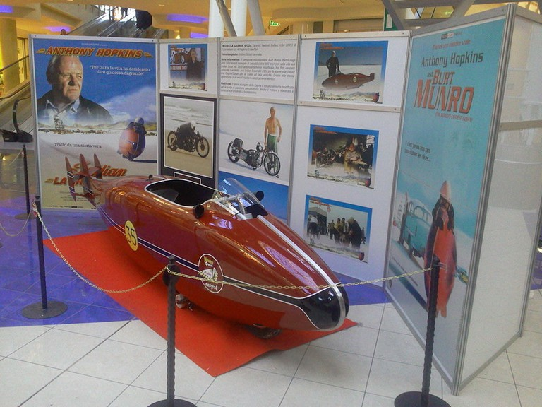 Burt Munro's Indian Special replica from the movie The World's Fastest Indian