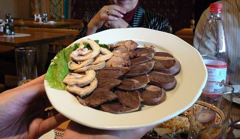 Kazakh horsemeat dish