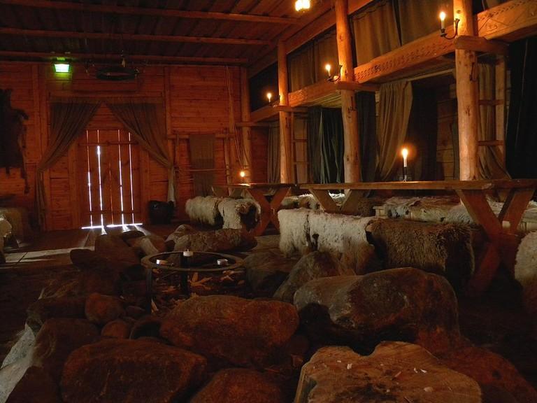Replica Viking hall at Rosala
