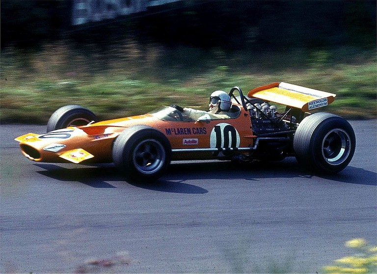 Bruce McLaren at the 1969 German Grand Prix