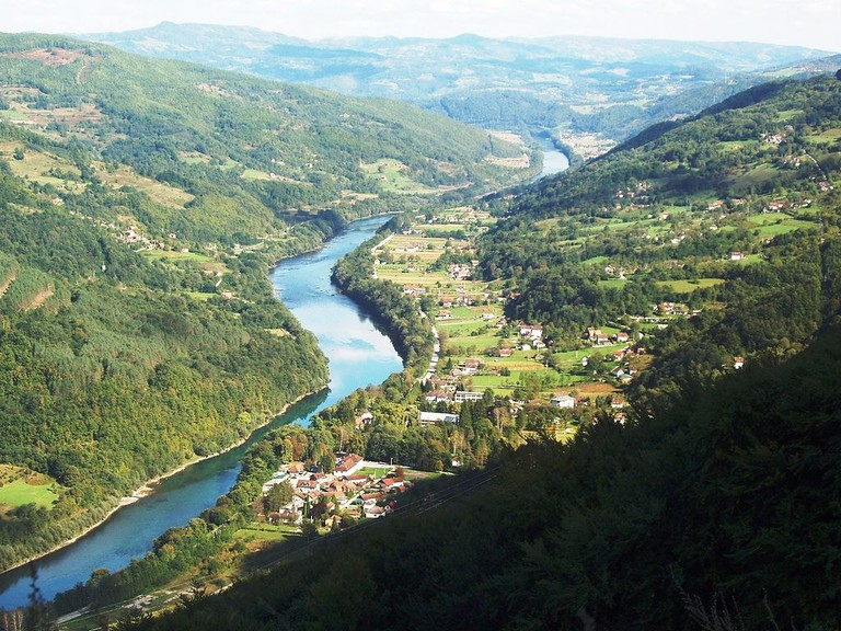 Perućac and the Drina River