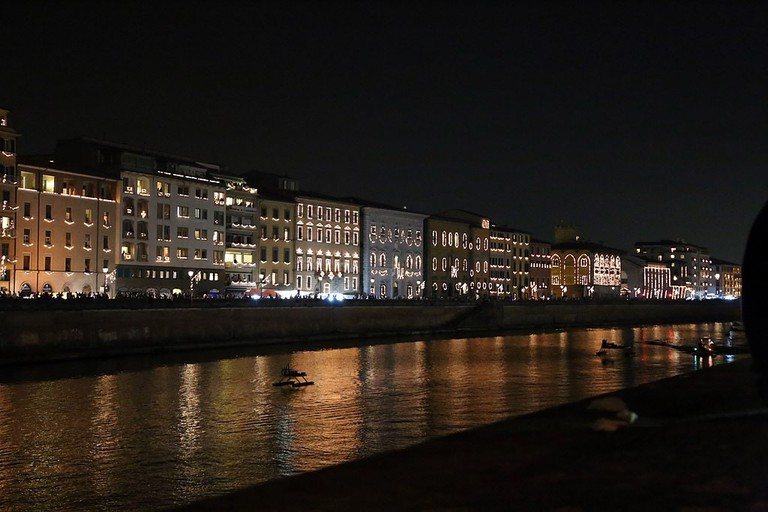 Lungarno of Pisa during Luminara
