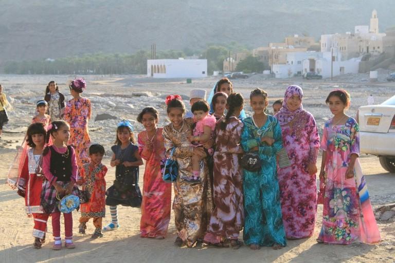 Bedouin children showcasing hospitality