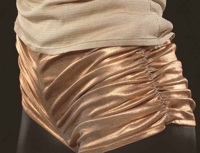 Hot pants worn by Kylie Minogue in 'Spinning Around' video, 2000 Arts Centre Melbourne, Performing Arts Collection