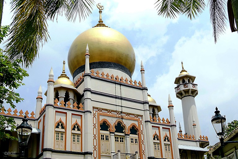 Exterior view of Sultan Mosque in Arab Street