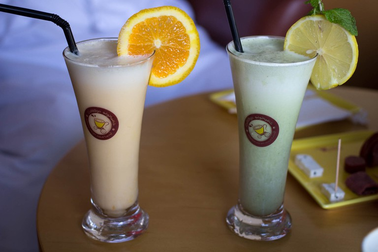 Camel milk smoothies!