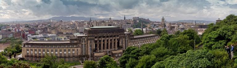 Edinburgh panorama with Old Royal High School