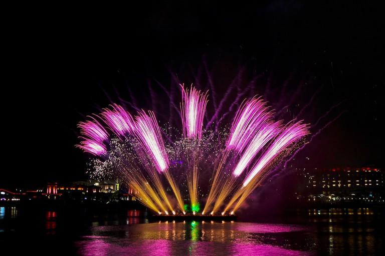Dramatic Fireworks in Sentosa