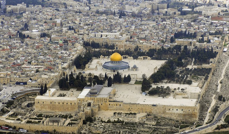 Aerial View of Temple Mount