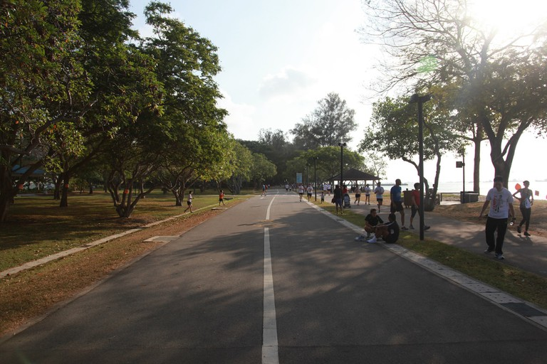 Endless pavements in East Coast Park