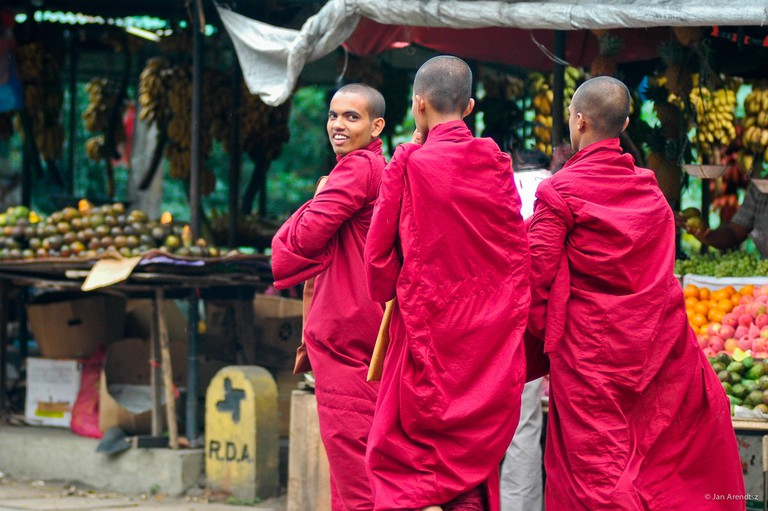 Buddhist monks in Kandy