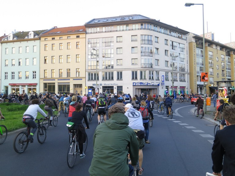 Large Group of cyclists in Berlin