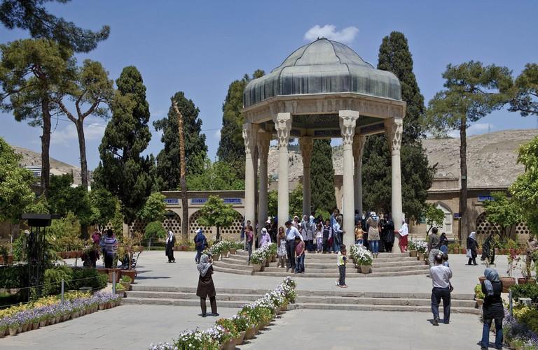 Iranians visit the tomb of beloved poet Hafez in Shiraz