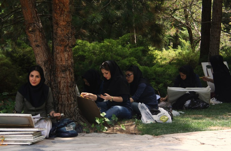 Art students in Esfahan