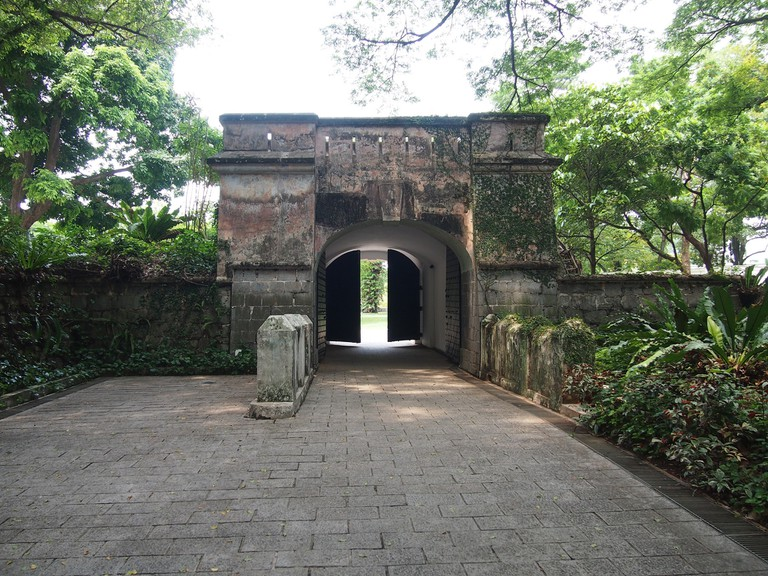 View of the Fort Gate in Fort Canning Park
