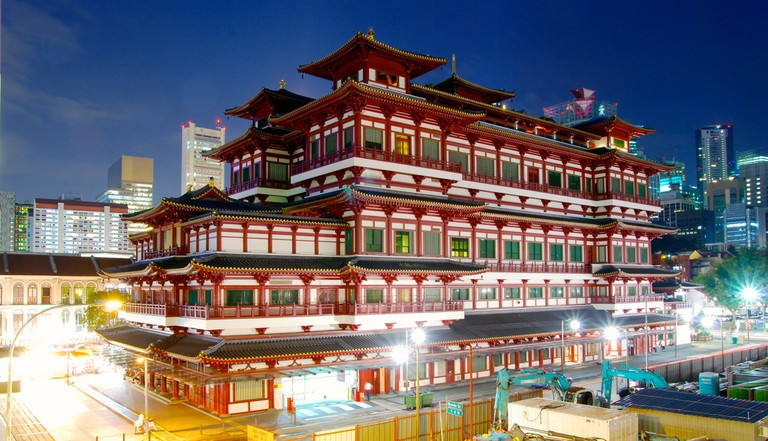 Exterior view of the Buddha Tooth Relic Temple