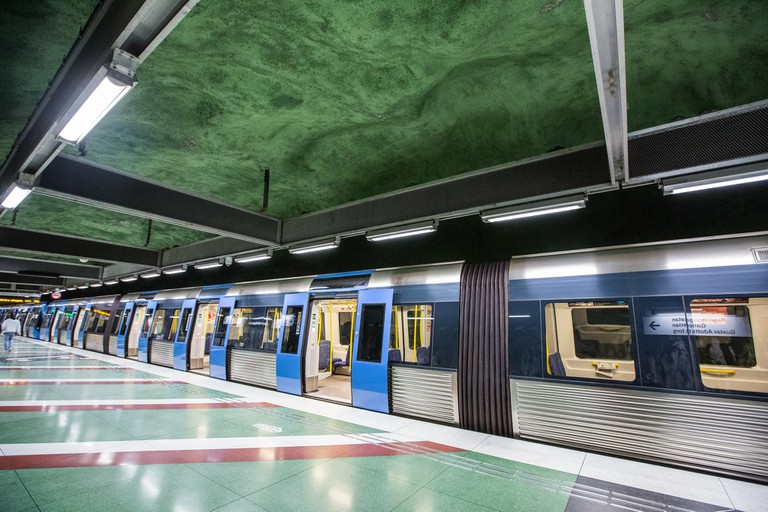 Stockholm's metro system is extensive and its stations are beautiful