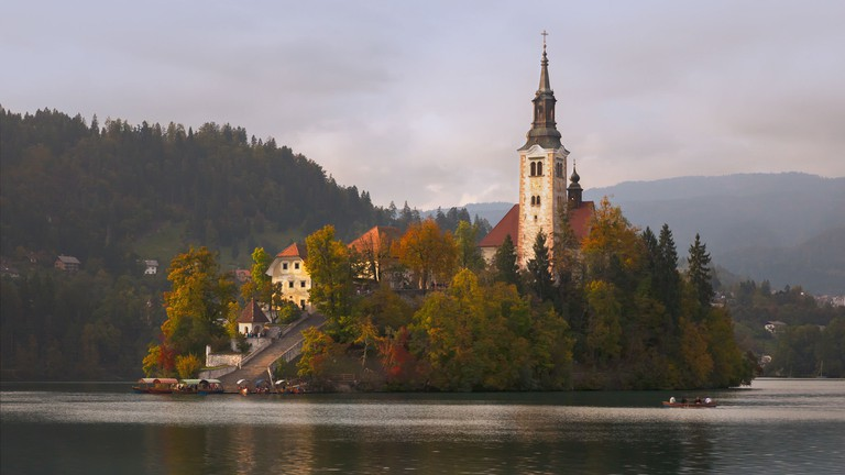 Church on the Lake Bled