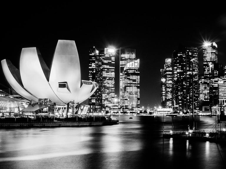 A monochromatic view of Singapore