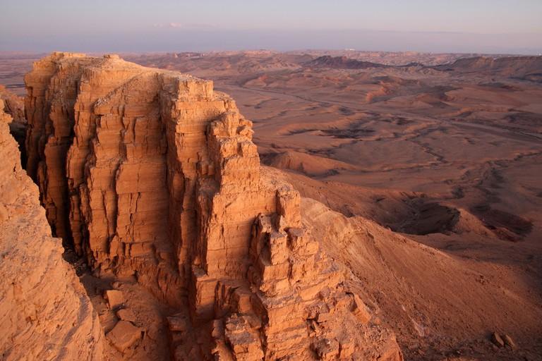 View of part of Makhtesh Ramon, Israel