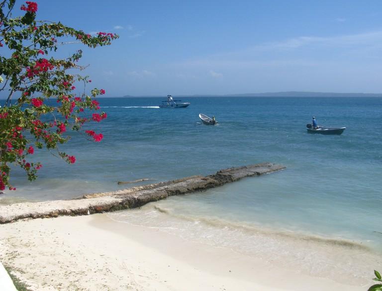 A beautiful beach on the Rosario Islands
